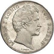 2 Thaler / 3½ Gulden - Ludwig I (Feldherrenhalle) – avers