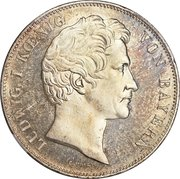 2 Taler / 3½ Gulden - Ludwig I (Birth of Two Grandsons) – avers