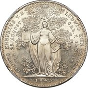 2 Taler / 3½ Gulden - Ludwig I (Birth of Two Grandsons) – revers