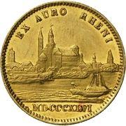 1 ducat Ludvig I (Rheingold) – revers