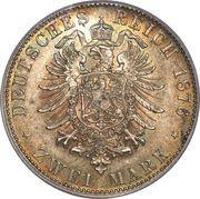 2 mark - Ludwig II – revers