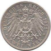 2 mark - Otto Prince Regent Luitpold – revers