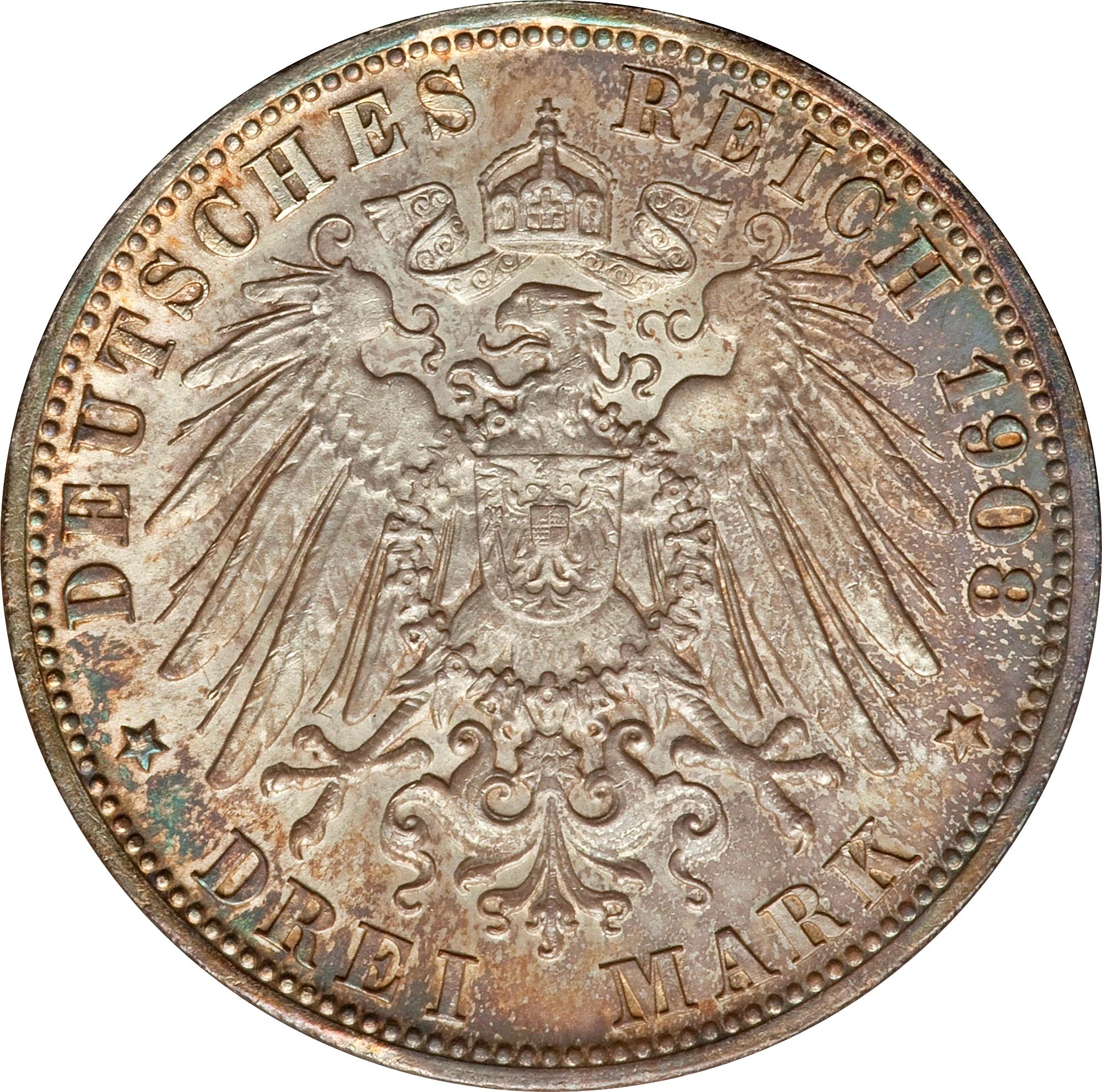 3 Mark Otto I Royaume De Bavière Numista