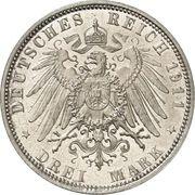 3 mark - Otto Prince Regent Luitpold – revers