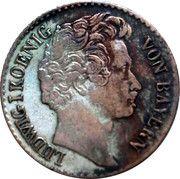 3 kreuzer - Ludwig I – avers