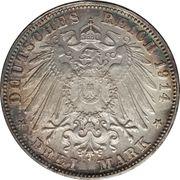 3 mark - Ludwig III – revers