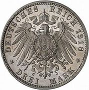3 Mark - Ludwig III (Noces d'or du couple royal) – revers