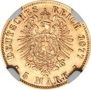 5 Mark - Ludwig II – revers