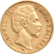 10 mark - Ludwig II – avers