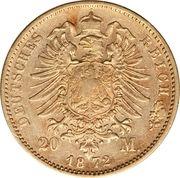 20 mark - Ludwig II – revers