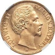 20 Mark - Ludwig II – avers