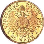 20 mark - Ludwig III – revers