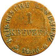 1 kreuzer - Maximilian I Joseph – revers