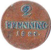 2 Pfennig - Maximilien Joseph – revers