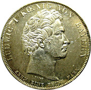 1 thaler - Ludwig I (Banque hypothécaire) – avers