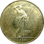 1 thaler - Ludwig I (Banque hypothécaire) – revers