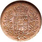 1 heller - Ludwig I / Maximilian II – avers