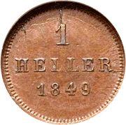 1 heller - Ludwig I / Maximilian II – revers