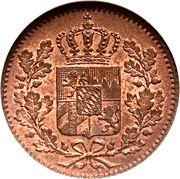 1 pfennig - Ludwig I / Maximillian II – avers
