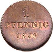 1 pfennig - Ludwig I / Maximillian II – revers