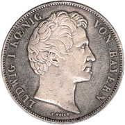 2 Thaler / 3½ Gulden - Ludwig I (Renouvellement) – avers