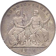 2 Thaler / 3½ Gulden - Ludwig I (Canal) – revers