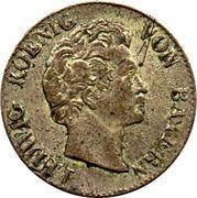 1 kreuzer Ludwig I. – avers