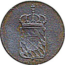 1 pfennig Maximilian I Joseph – avers