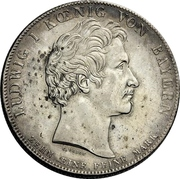 1 thaler Ludwig I (Union douanière) -  avers