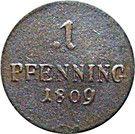 1 pfennig Maximilian I Joseph – revers