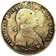 1 thaler Maximilian I Joseph – avers