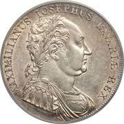 1 thaler - Maximilian Joseph (Constitution bavaroise) – avers