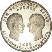 1 thaler - Ludwig I (Reichenbach et Fraunhofer) – revers