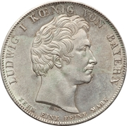 1 thaler - Ludwig I – avers