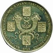 1 Thaler - Ludwig I (Traité commercial) – revers