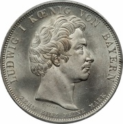 1 thaler - Ludwig I (famille bavaroise) – avers