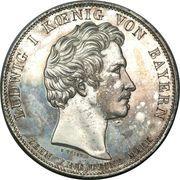 1 thaler - Ludwig I (Ouverture de législature) – avers