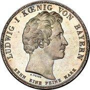 1 thaler - Ludwig I (prince Otto) – avers