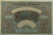 100 Mark (Bayerische Notenbank) – revers