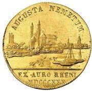 1 Ducat - Ludwig I (Rheingold-Dukat) – revers