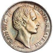 ½ Gulden - Ludwig II – avers
