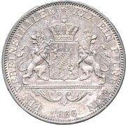 1 Vereinsthaler - Ludwig II – revers