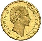 1 Ducat - Ludwig II (Geschenk-Dukat) – avers