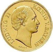 ½ Krone - Ludwig II. – avers