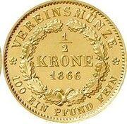 ½ Krone - Ludwig II. – revers