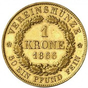 1 Krone - Ludwig II. – revers