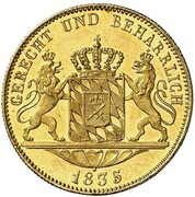 1 ducat Ludwig I – revers