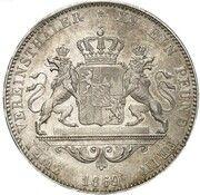 2 Vereinsthaler - Ludwig II – revers
