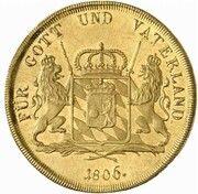 20 ducats  Maximilian I Joseph (Frappe essai en or) – revers