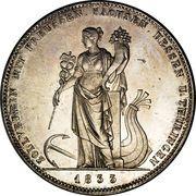 1 Thaler - Ludwig I (Union douanière) – revers